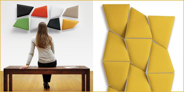 DesignEuropa Awards 2016: Das von Caimi Brevetti hergestellte und von Alberto und Francesco Meda entworfene schallabsorbierende Paneel 'Flap' hat den Preis für kleine und neu gegründete Unternehmen gewonnen.
