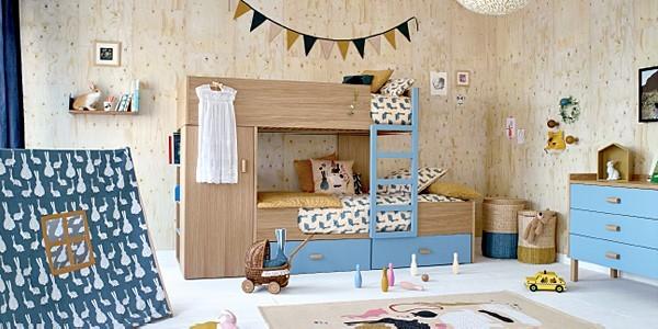 Habitat und das französische Magazin 'MilK' haben gemeinsam eine Kollektion aus Möbeln, Accessoires und Textilien fürs Kinderzimmer entworfen.