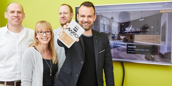 Über den 'Neos Award' in Bronze für die neue Website freut sich MeisterWerke.
